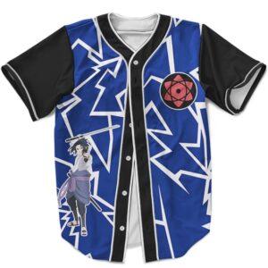 Uchiha Sasuke Baseball Jersey Lightning Sharingan Rinnegan