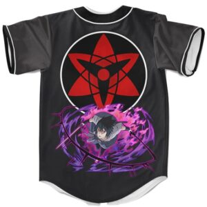 Uchiha Sasuke Mangekyo Sharingan Awesome MLB Baseball Shirt