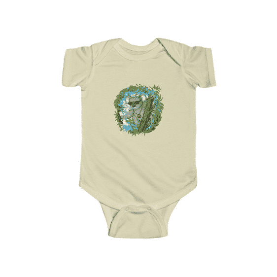 Chill Koala Hitting Bong & Weed Lovely 420 Baby Onesie