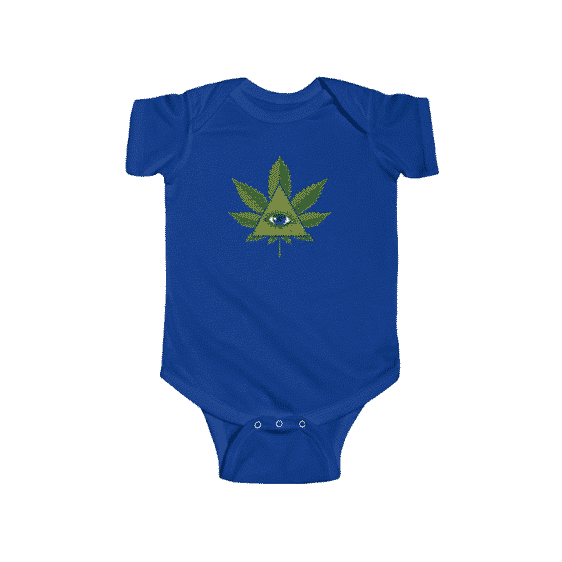 Mesmerizing Weed Pyramid Eye Dope 420 Newborn Bodysuit