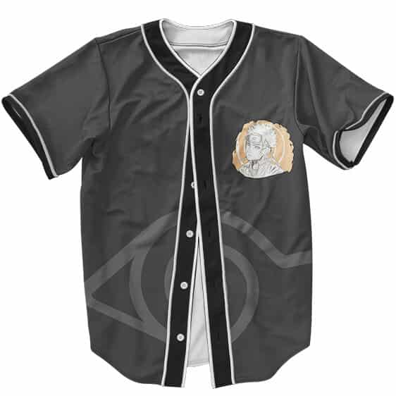 Uzumaki Naruto Sketch Art Hidden Leaf Logo Baseball Jersey