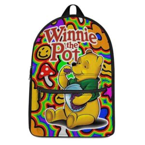Winnie the Pot Head Kush Tripping Colorful Shrooms Backpack