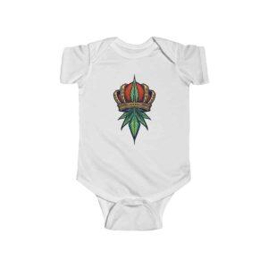 Dope Crowned King Kush 420 Marijuana Art Infant Romper