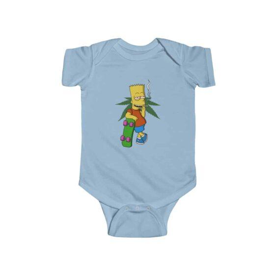 Bart Simpson Smoking Marijuana Joint Dope 420 Baby Onesie