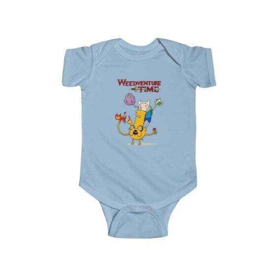 Weedventure Time Finn and Jake Marijuana 420 Newborn Onesie