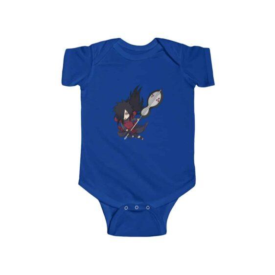 Chibi Uchiha Madara Battle Stance Cool Infant Bodysuit