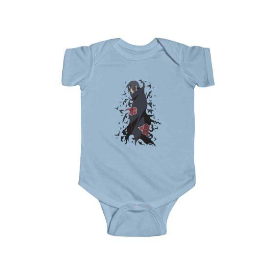 Uchiha Itachi Crow Genjutsu Badass Naruto Baby Bodysuit