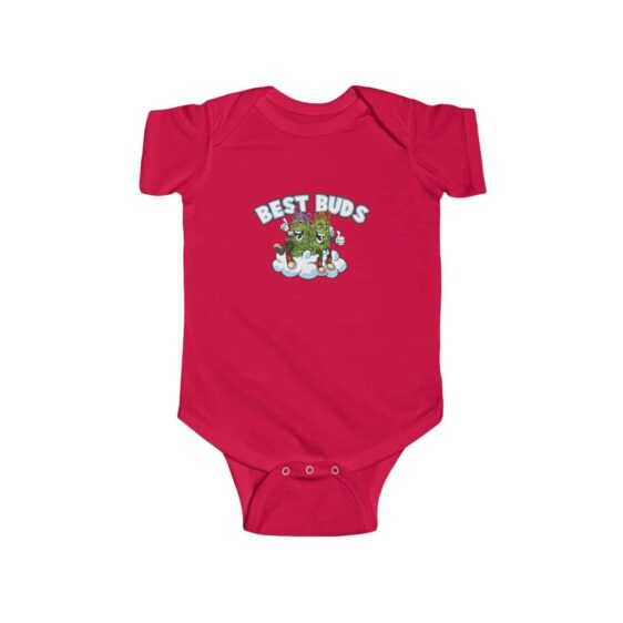 Best Buds Stoned Cannabis Buds Art Amazing 420 Baby Romper