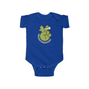 Growing Like A Weed Cannabis Blunt Stylish Baby Onesie