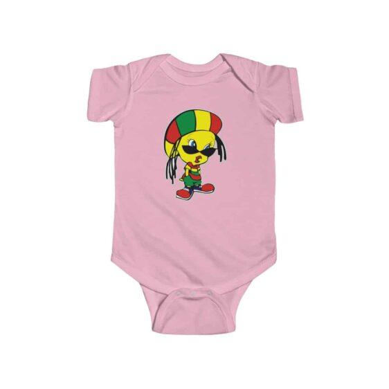 Adorable Tweety Bird Rastaman Outfit Cute Marijuana Baby Onesie