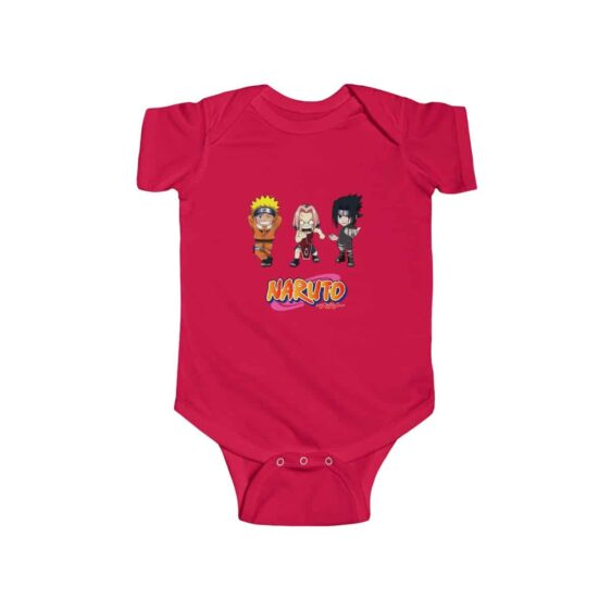 Chibi Naruto Sasuke and Sakura Team 7 Cute Infant Onesie