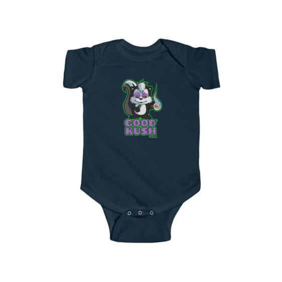 Good Kush Stoned Skunk Smoking Weed Blunt 420 Newborn Romper