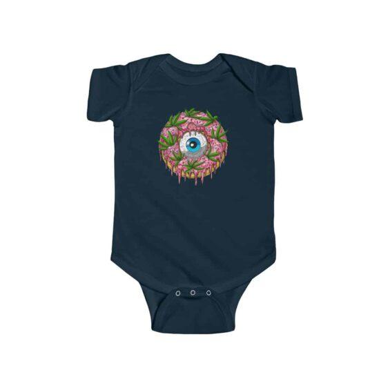 Psychedelic Donut Eye & Marijuana Art Dope Infant Clothes