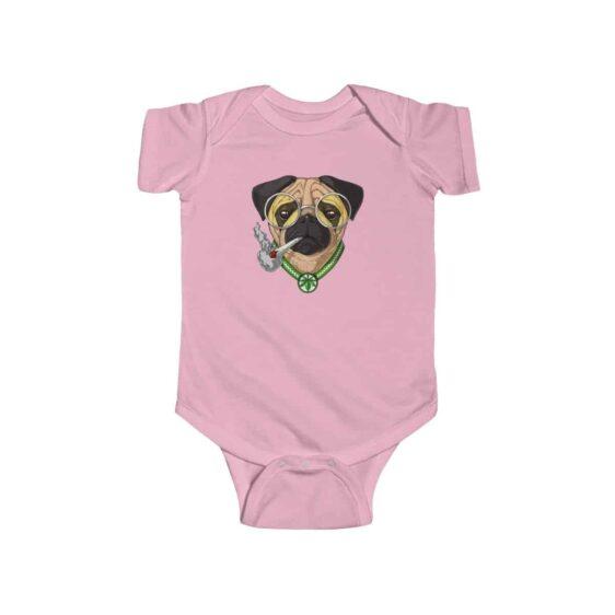Lovely Pug Dog Smoking Weed Cute Marijuana Newborn Clothes