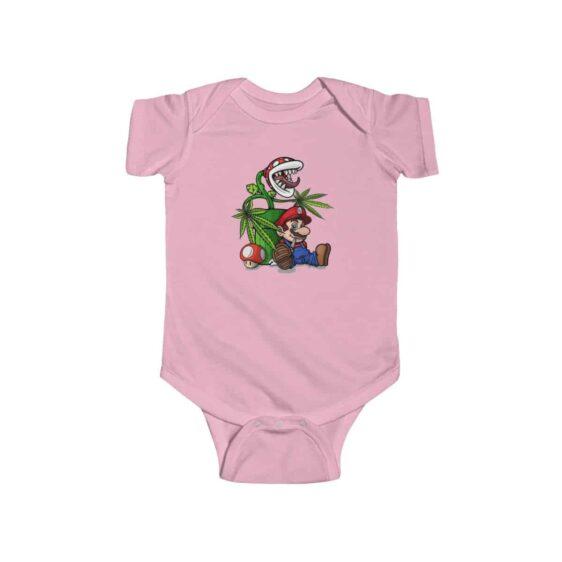 Stoned Mario With Piranha Plant 420 Marijuana Infant Romper