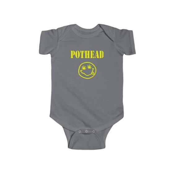 Pothead Smiley Face Nirvana Parody 420 Weed Infant Bodysuit