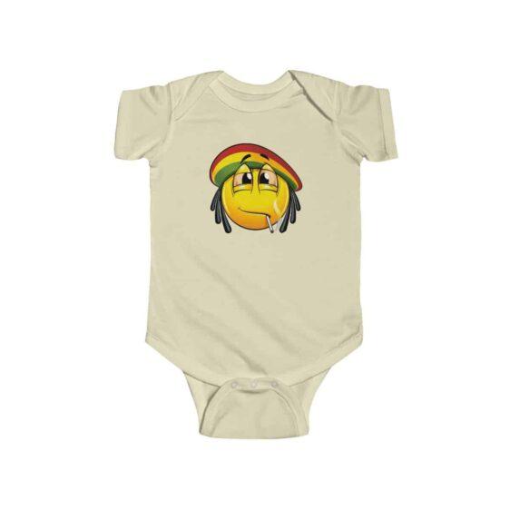 Stoner Rastaman Emoji Smoking Joint Cool 420 Weed Baby Onesie