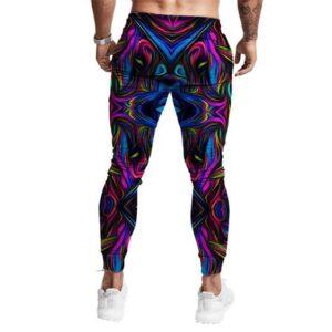 3D Purple Tie Dye Design Trippy Marijuana Jogger Pants