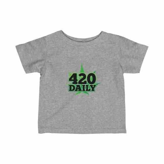 420 Daily Logo Green Marijuana Leaf Awesome Infant T-shirt