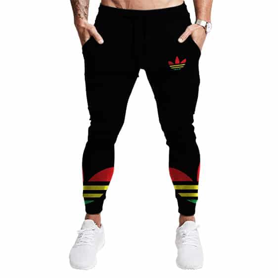 Adidas Rastaman Weed Logo Parody Stylish 420 Jogger Pants