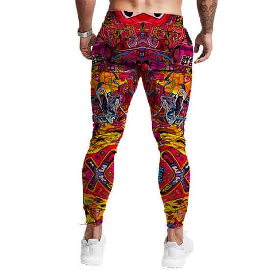 Aesthetic Vibe Weed Cartoon Art Pattern Awesome 420 Joggers