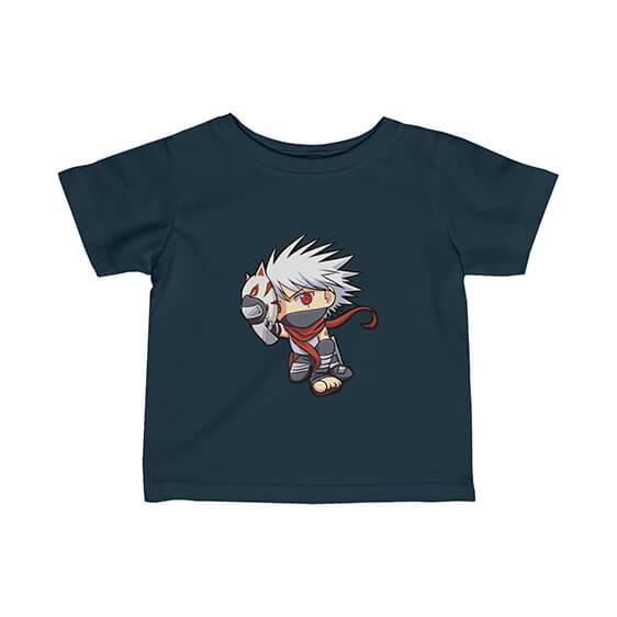 Anbu Kakashi Hatake Chibi Style Badass Naruto Baby Shirt