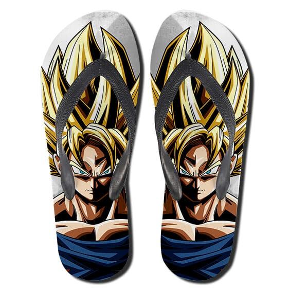 Awesome Fierce Goku SSJ2 Dragon Ball Thong Sandals