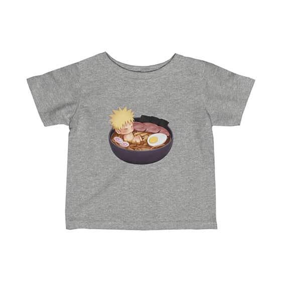 Baby Naruto Enjoying Ramen Noodles Lovely Newborn T-Shirt