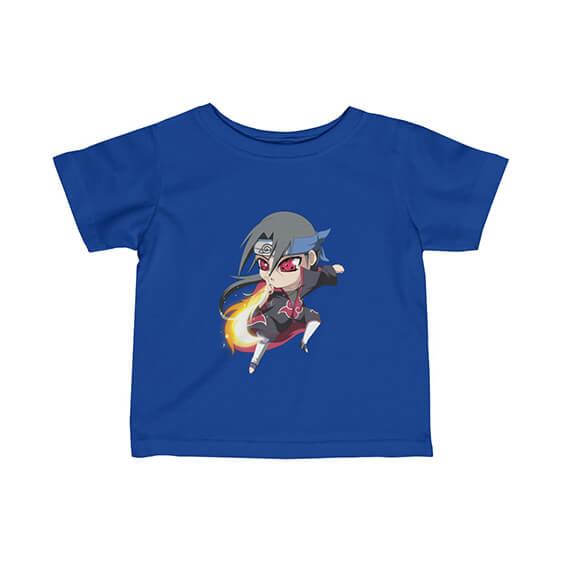 Badass Chibi Itachi Uchiha Fireball Technique Baby T-Shirt