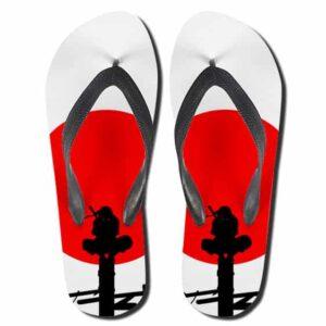 Blood Red Moon Itachi Uchiha Dope Flip Flop Sandals