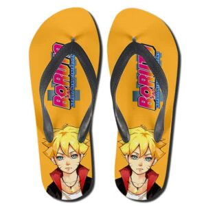 Boruto Naruto Next Generations Yellow Thong Sandals