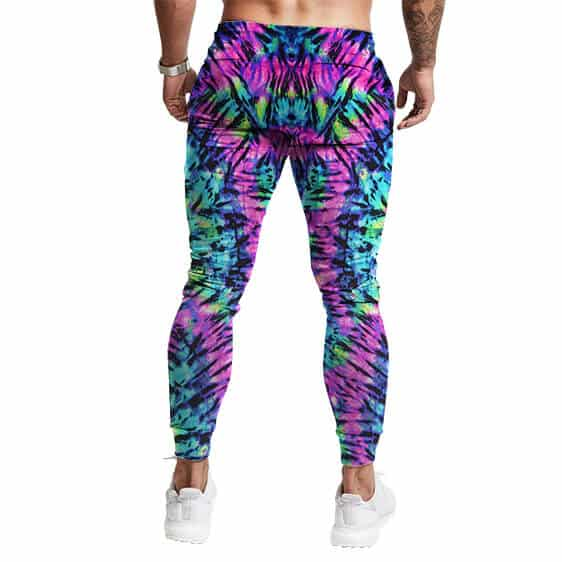 Bright Neon Color Tie Dye Pattern Awesome 420 Sweatpants