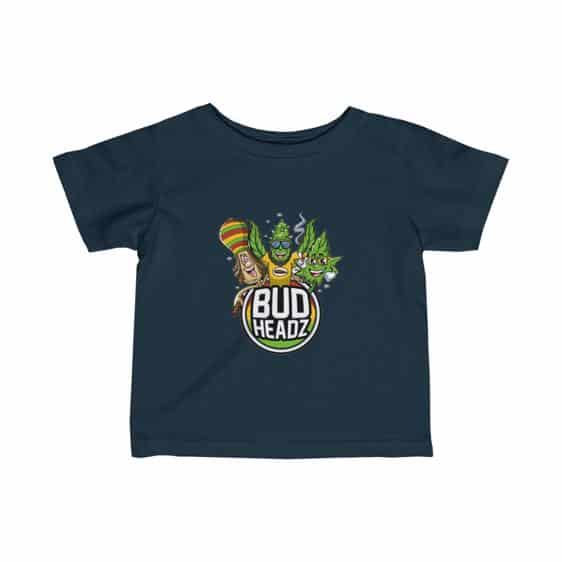 Bud Headz Trippy Rastaman and Marijuana Art Infant Shirt