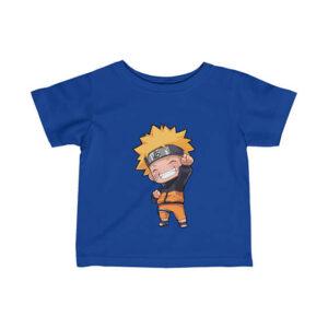 Cheerful Uzumaki Naruto Chibi Art Lovely Newborn T-Shirt