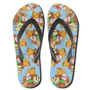 Chibi Jinchuriki Tailed Beasts Pattern Thong Sandals