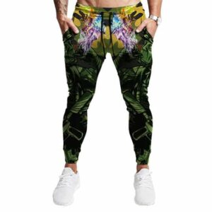 Chilling Out Soldier Smoking Marijuana Camouflage Joggers