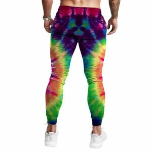 Classic Rainbow Colored Tie Dye Design Stylish 420 Joggers