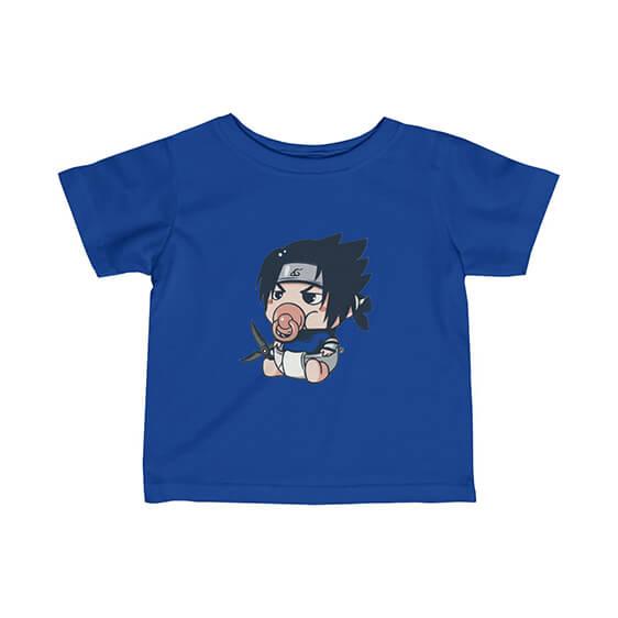 Cute Baby Sasuke With Pacifier Adorable Naruto Infant Tees