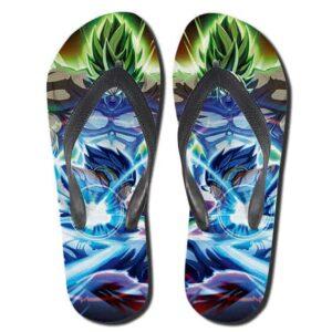 DBS Legendary Broly Versus Gogeta SSGSS Thong Sandals