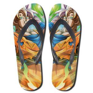 DBZ Bruised Goku Super Saiyan 2 Multicolor Thong Sandals
