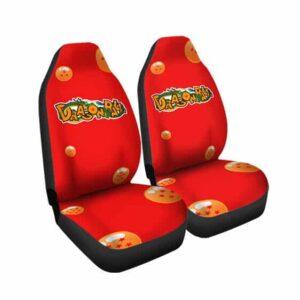 DBZ Shenron Earth Dragon Balls Art Red Car Seat Cover