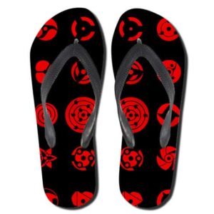 Different Types of Sharingan Pattern Black Slippers