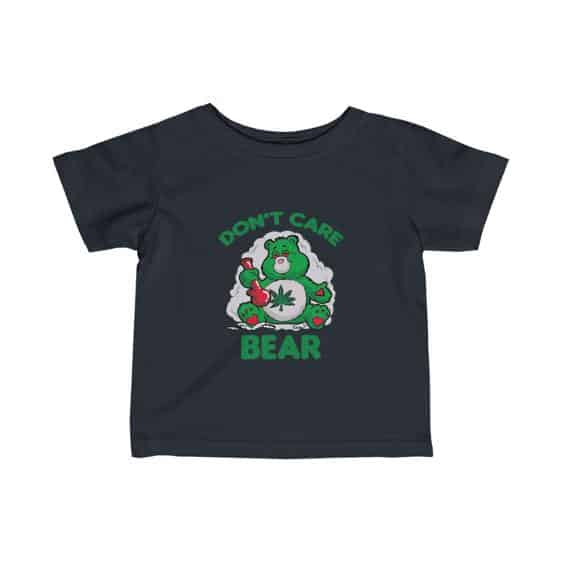 Don't Care Bear Smoking Weed Bong Hemp 420 Baby Shirt