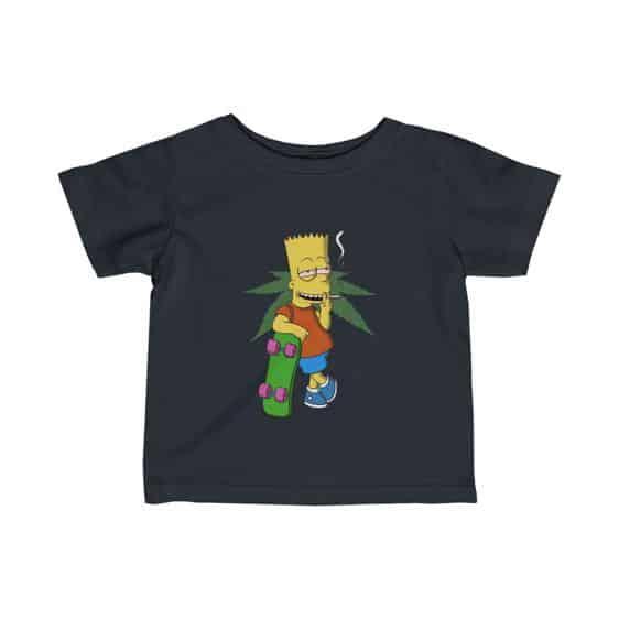 Dope Bart Simpson Smoking Marijuana Joint Newborn Shirt