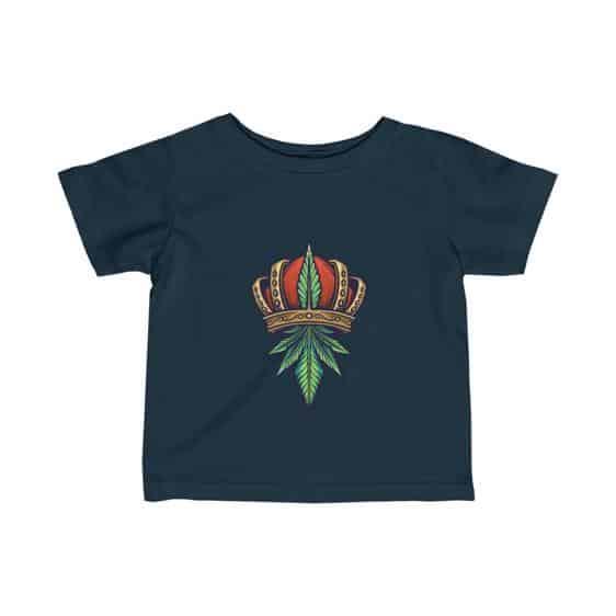 Dope Crowned King Kush 420 Marijuana Art Baby T-shirt