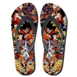 Dragon Ball Anime Series Characters Flip Flop Slippers