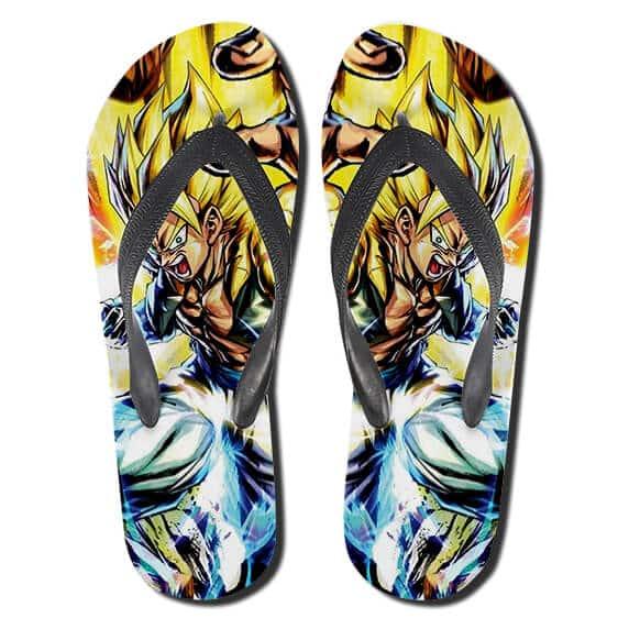 Dragon Ball Energizing Gogeta SSJ2 Form Thong Sandals