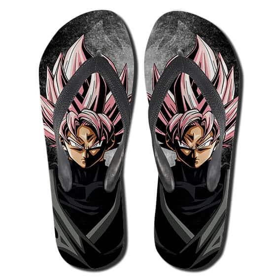 Dragon Ball Goku Black Super Saiyan Rose Thong Sandals
