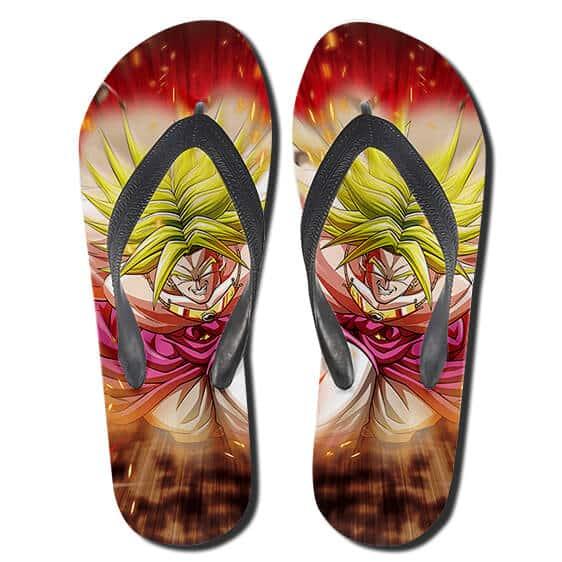 Dragon Ball Legendary Broly Livid Attack Flip Flop Sandals