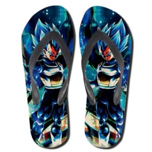 Dragon Ball Legends Vegeta Super Saiyan Blue Flip Flops